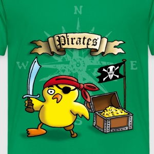 pirate_chick_h Shirts - Teenage Premium T-Shirt