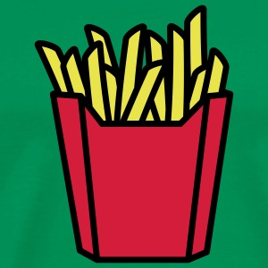 fastfood_french_fries_3c T-shirt - Maglietta Premium da uomo