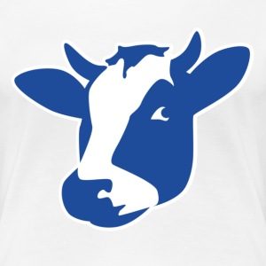 Cow Head T Shirt - Women's Premium T-Shirt