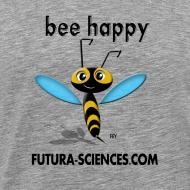 Motif ~ Abeille Bee happy homme gris