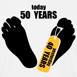 today 50 years yesterday 40 years Tee shirts - T-shirt Homme