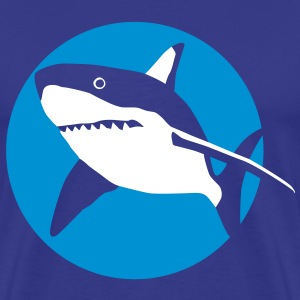 shark_092011_g_2c T-Shirts - Men's Premium T-Shirt