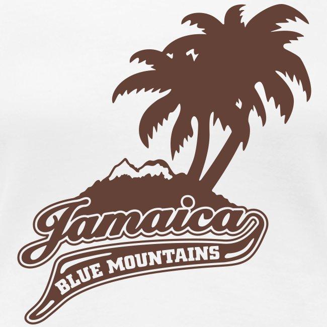 weisses Girlie-Shirt Jamaica Blue Mountains flock
