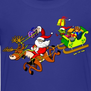 Santa's Gift Delivery with a Slingshot Kids' Shirts - Teenage Premium T-Shirt