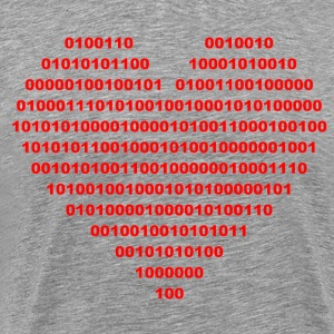 I LOVE - Binary hjerte - digital T-skjorter - Premium T-skjorte for menn
