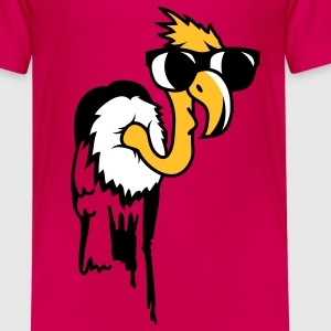 Vulture with a cool black sunglasses Kids' Shirts - Teenage Premium T-Shirt