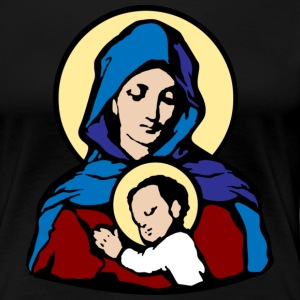 Mary and Jesus T-Shirts - Dame premium T-shirt