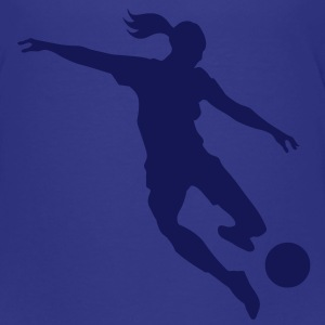 Soccer female - Teenage Premium T-Shirt