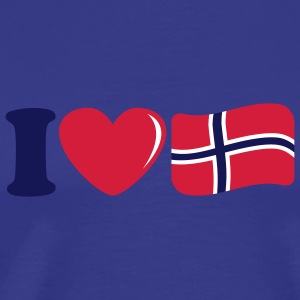 i_love_norway_3c T-shirts - Mannen Premium T-shirt