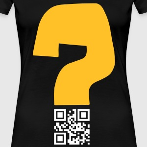 Question v1 - QR-code (2c, new) Tee shirts - T-shirt Premium Femme