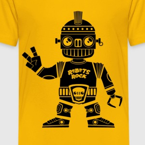 ROBOTS ROCK - ROBOTER ROCKEN - Teenager Premium T-Shirt