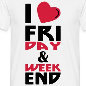 I love Week end (2c) - Men's T-Shirt