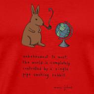 Design ~ Pipe smoking rabbit - Mens colours