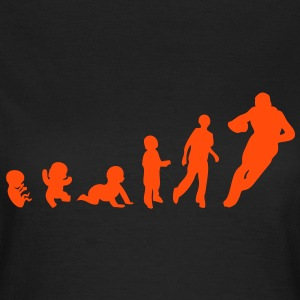 evolution homme human sport rugby Tee shirts - T-shirt Femme