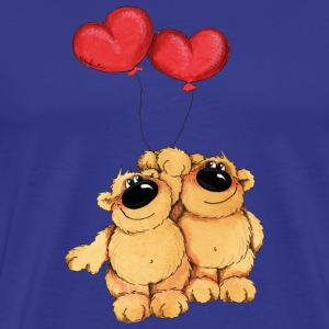 Two bears in love T-shirts - Premium-T-shirt herr