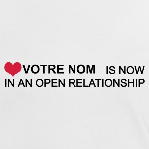 Blanc/rouge in an open relationship personalisable T-shirts - T-shirt contraste Femme
