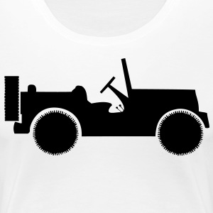 military jeep car T-shirts - Premium-T-shirt dam