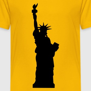 statue of liberty :-: - Teenage Premium T-Shirt