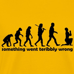 something went terrible wrong - Männer Premium T-Shirt
