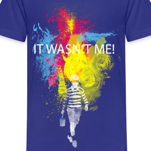 it wasn't me! Barn-T-shirts - Premium-T-shirt tonåring