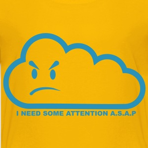 I need some attention a.s.a.p.-transparent Kids' Shirts - Teenage Premium T-Shirt
