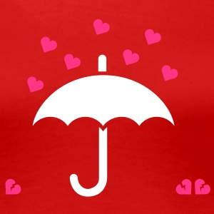 It's raining hearts Tee shirts - T-shirt Premium Femme