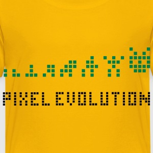 Yellow Pixel Evolution Kids' Shirts - Kids' Premium T-Shirt