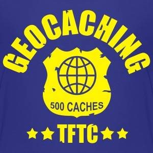 geocaching - 500 caches - TFTC / 1 color T-shirts - Premium-T-shirt tonåring