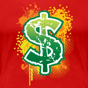 Dollar sign T-shirt - Women's Premium T-Shirt