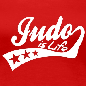 judo is life - retro T-Shirts - Women's Premium T-Shirt