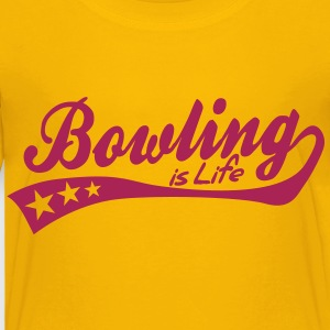 bowling is life - retro Barneskjorter - Premium T-skjorte for barn