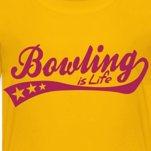 bowling is life - retro Kids' Shirts - Kids' Premium T-Shirt