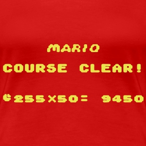 Super Mario SNES Course Clear! for Ladies - Women's Premium T-Shirt