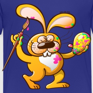 Easter Bunny Painting an Egg Kids' Shirts - Kids' Premium T-Shirt