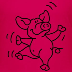 Sweet little dancing pig Barneskjorter - Premium T-skjorte for barn
