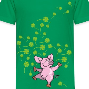 Little pig in good luck Kids' Shirts - Teenage Premium T-Shirt