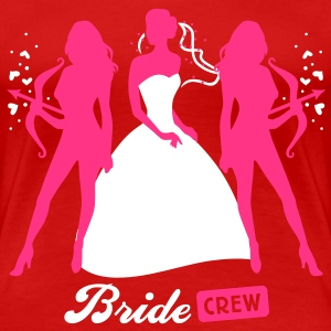 Bride - crew - hen night - security  T-Shirts - Women's Premium T-Shirt