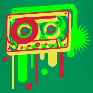 3D music cassette in graffiti style  Kids' Shirts - Teenage Premium T-Shirt