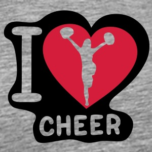 i love cheerleading pompom girl heart15 Tee shirts - T-shirt Premium Homme