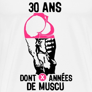 30 ans musculation bodybuilding anniver Tee shirts - T-shirt Premium Homme
