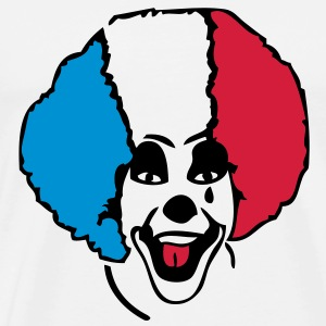 clown supporter france drapeau1 flag8 Tee shirts - T-shirt Premium Homme