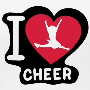 i love cheerleading pompom girl heart16 Tee shirts - T-shirt Premium Femme