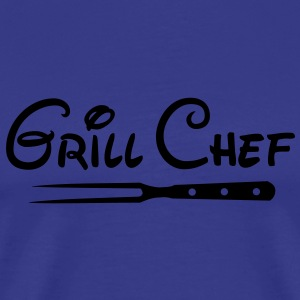 BBQ Grill Chef Barbecue Grill Sports Club - Mannen Premium T-shirt