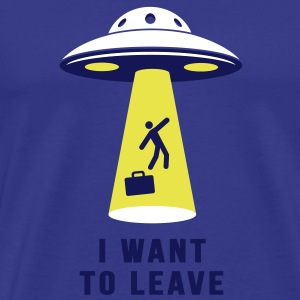 I want to leave - Parodie T-Shirts - Männer Premium T-Shirt