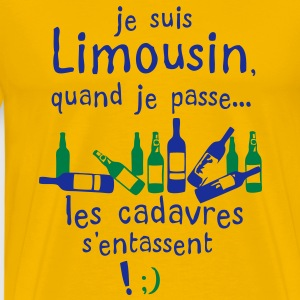 limousin cadavre entasse bouteille alcool Tee shirts - T-shirt Premium Homme