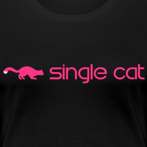 Single Katzen T-Shirts - Frauen Premium T-Shirt