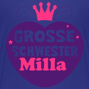 Grosse Schwester - 2C - Geschwister Kinder T-Shirts - Teenager Premium T-Shirt