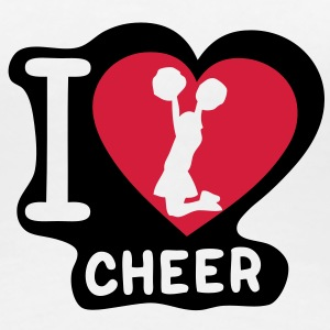 i love cheerleading pompom girl heart14 Tee shirts - T-shirt Premium Femme