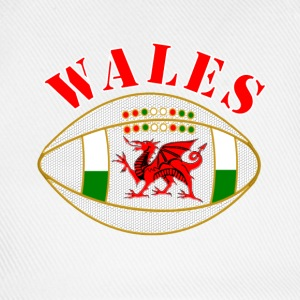 Wales dragon rugby ball Caps & Hats - Baseball Cap