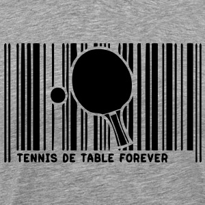 code barre pingpong tennistable raquette Tee shirts - T-shirt Premium Homme